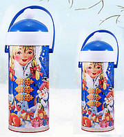 "Новогодняя упаковка ""Снегурочка"" на 250 гр (картон, пластмасса)"