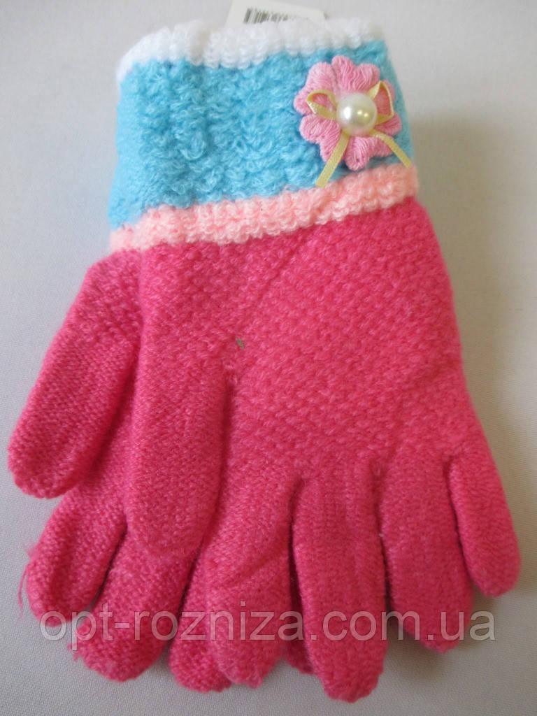 Перчатки с узором для девочек.