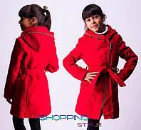 Кашемировое пальто на молнии с капюшоном