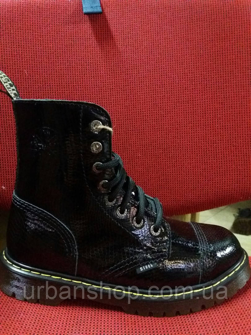 Ботинки Кожа STEEL 113 AL D-95. Black Original. Шкіра. Черевики ... f4e98d9a81fb8