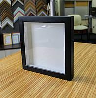 Рамка для 3D 25х25 см черная, фото 1