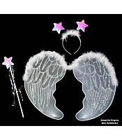 Карнавальные крылья,крылья ангела белый ,MK 1408 KRK-0009