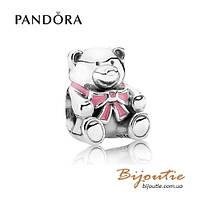 Pandora шарм МИШКА TEDDY BABY GIRL #791124EN24 серебро 925 Пандора оригинал