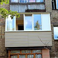 Балкон под ключ в кирпичной хрущевке