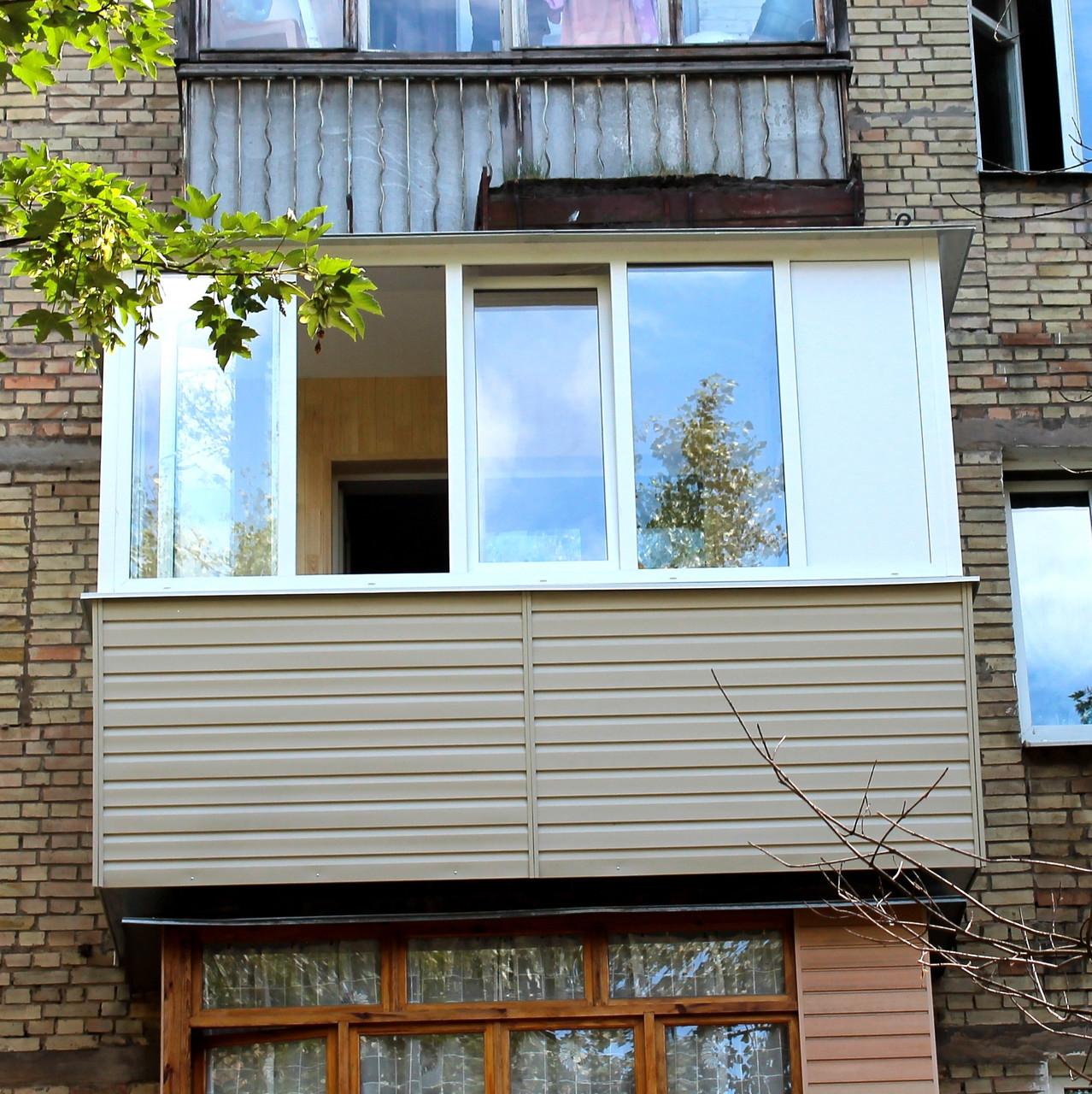 Балкон под ключ в кирпичной хрущевке, цена 28000 грн., зака.