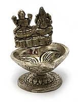 Аромакурительница металл Ганеш и Лакшми (8,5х7,5х7 см)(Непал)