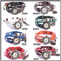 Винтажные женские часы браслет 6 цветов