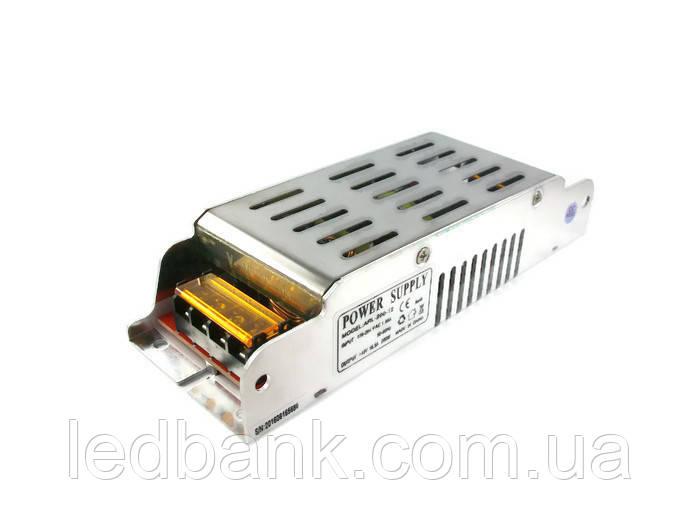 Блок питания 12V 16.5A 200W ARL-200-12 узкий