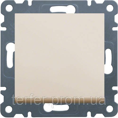 Выключатель 1-полюсный Lumina-2, кремовый, 10АХ/230В