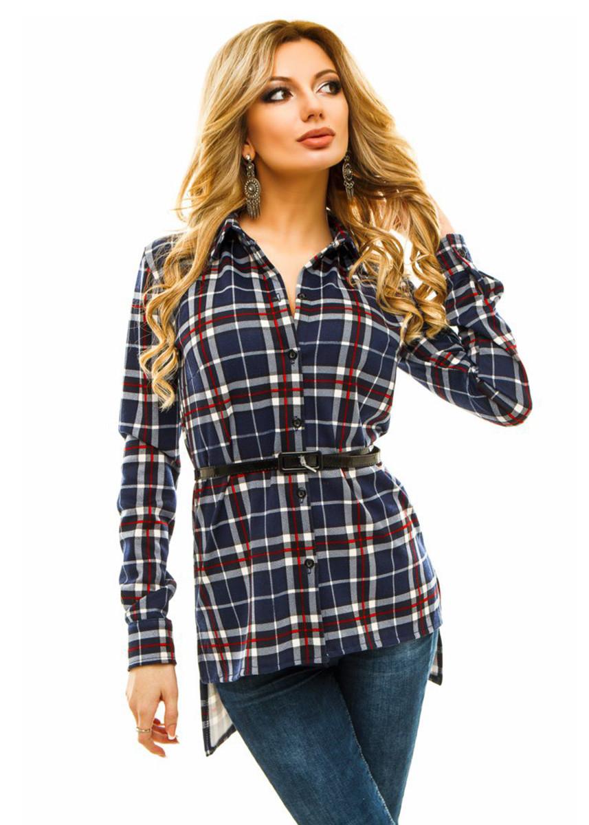 4ea9acffa335 Женская Рубашка удлиненная в клетку 3 цвета
