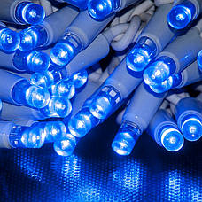 Гирлянда DELUX SNOWFALL с контроллером 80LED 22 см бело-синяя внешняя., фото 3