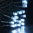 Гирлянда DELUX STALACTITES 120LED 0.8x1.5м белая/белый провод внешняя, фото 4