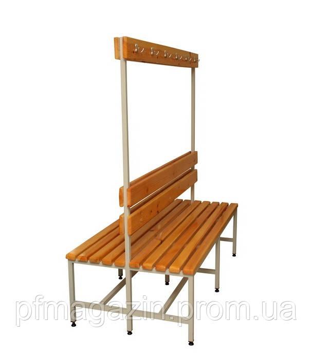 Скамейки двухсторонние для одёжных шкафов (ДхВхГ-1000х1650х775)