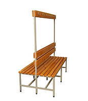 Скамейки двухсторонние для одёжных шкафов (ДхВхГ-1500х1650х775)