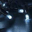 Гирлянда DELUX CURTAIN 1520LED 2x7m синяя/белый провод внешняя, фото 4