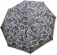 Необычный женский зонт полуавтомат DOPPLER 730165AR-2, бело-черный