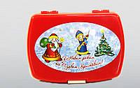 """Ланчбокс """"С Новым годом и Рождеством"""" на 300-400 гр (173х127,5х68 мм)"""