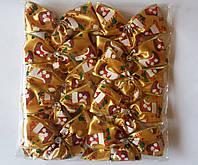 Банты с рисунком широкие для новогодней елки (упаковка 10 шт, цвета в ассортименте), фото 1