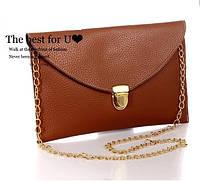 Уцененный клатч-конверт сумочка Vega dark  brown