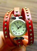 Винтажные часы браслет JQ red ретро