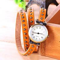 Винтажные часы браслет JQ orange ретро