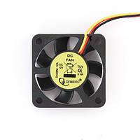 Вентилятор для видео Gembird D40BM-12A 40x40x10мм, с подшипником качения, 12В, 70мм кабель