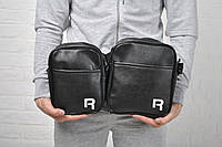 Мужская сумка через плечо рибок (Reebok), черная