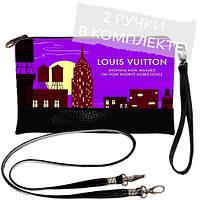 Черная сумка клатч с принтом LOUIS VUITTON