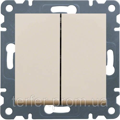 Выключатель 2-кл. универсальный Lumina-2, кремовый, 10АХ/230В