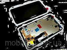 Модуль для Motorola XT890/XT907 RAZR i (Дисплей + тачскрин), чёрный, с передней панелью, оригинал