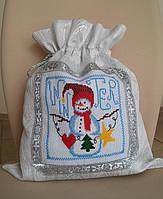 Мешочек для подарков  Снеговик