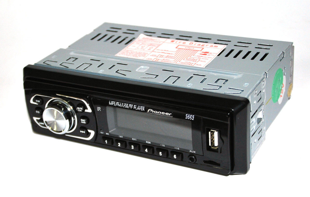 Мультимедийная Автомагнитола Pioneer 2052 MP3, USB, AUX, FM