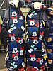 Детская зимняя куртка  Микки на овчине оптом на 5-9 лет синяя