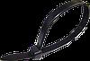 Стяжка нейлон чорна 4,6*300 мм