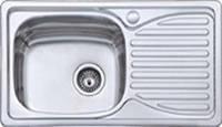 Мойка врезная DELFI 760*420мм декор DF7642E