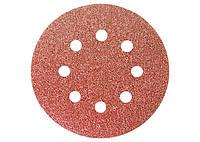 """Круг абразивный на ворсовой подложке под """"липучку"""", перфорированный, P 180, 125 мм, 5 шт.// MTX 73808 738089"""