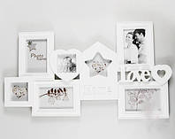 "Фотоколлаж ""Home Love"" на 7 фото, белый"