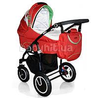 Универсальная коляска 2 в 1 Geoby Limited C3011-RMZF-G красная