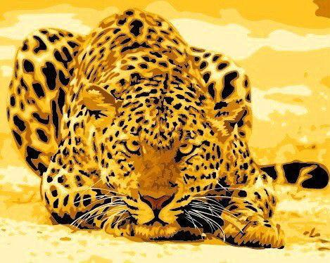 "Рисование по номерам Идейка ""Леопард"" (KHO305) 40 х 50 см (без коробки)"