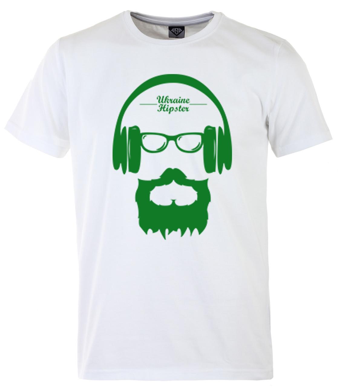 Мужская футболка с принтом патриот зеленый