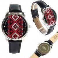Наручные часы must have Вышиванка красно-черная