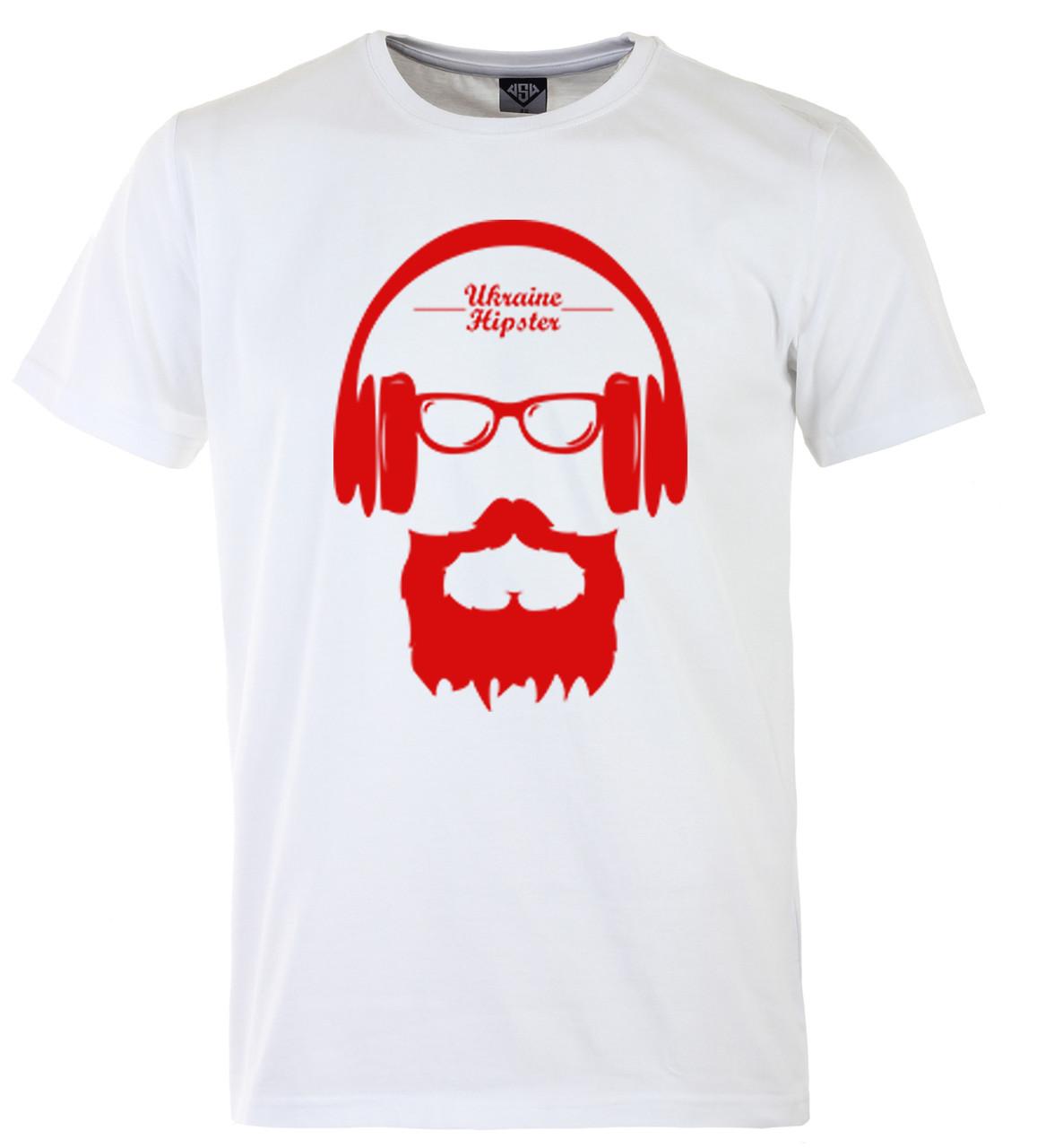 Мужская футболка с принтом патриот красный