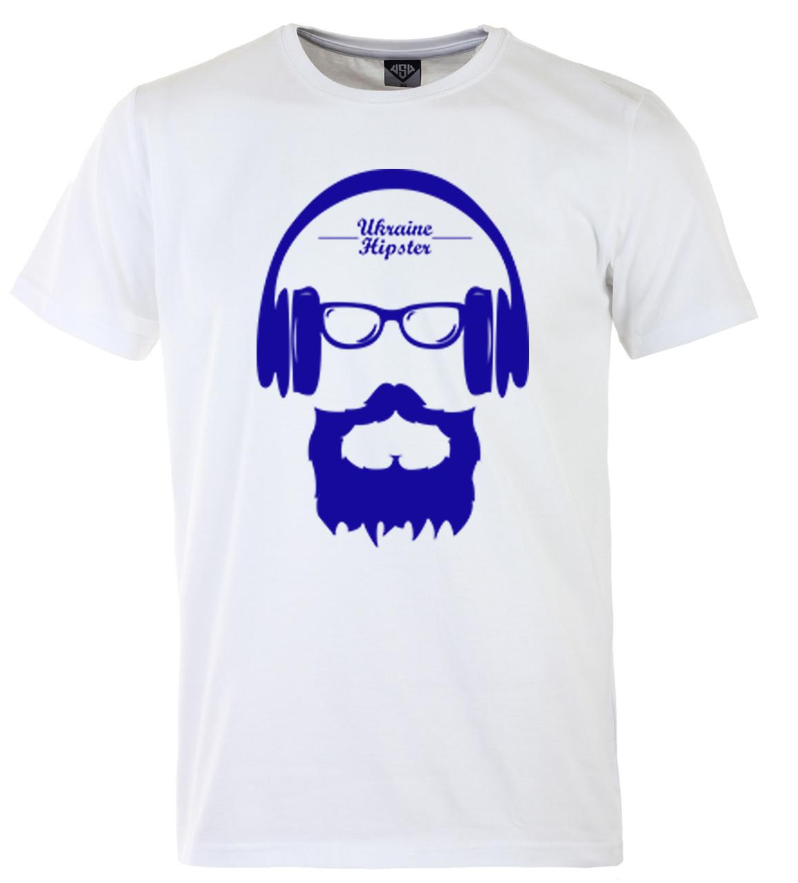 Мужская футболка с принтом патриот синий