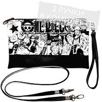 Черная сумка клатч с принтом Комикс
