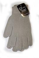 Женские перчатки серого цвета
