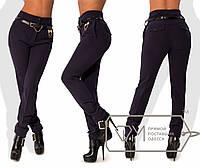 Женские утепленные брюки с высокой талией. Разные цвета.