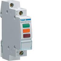 Индикатор тройной LED Hager SVN129, 230В