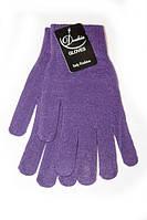 Темные перчатки теплой вязки