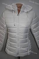 Яркая демисезонная женская куртка белая