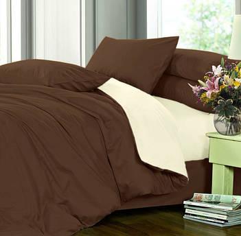 Двуспальное постельное белье из однотонного сатина,100% хлопок